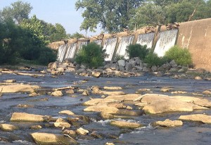 Overflow at the dam